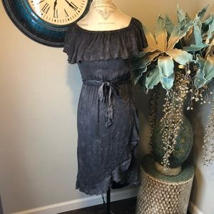 Chaser ruffle top dress